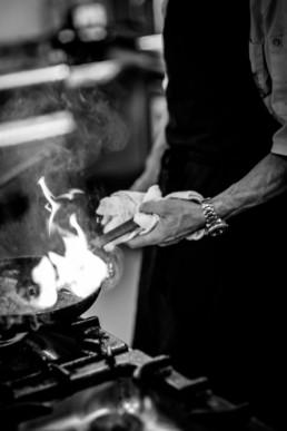 Claremont Chef frying beef